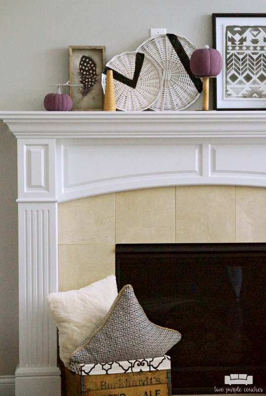 Fall mantel decorations - simple diy ideas and tribal inspired accents