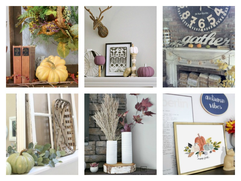 Fall Mantels Ideas - farmhouse and modern ideas for Autumn decorating.