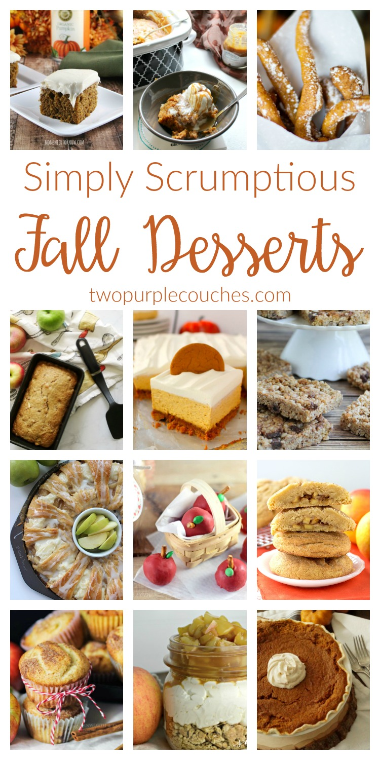 Easy Fall Desserts Recipes. Whether you love apple or pumpkin, check out these delicious ideas - from no bake cheesecake to crockpot cakes and more.