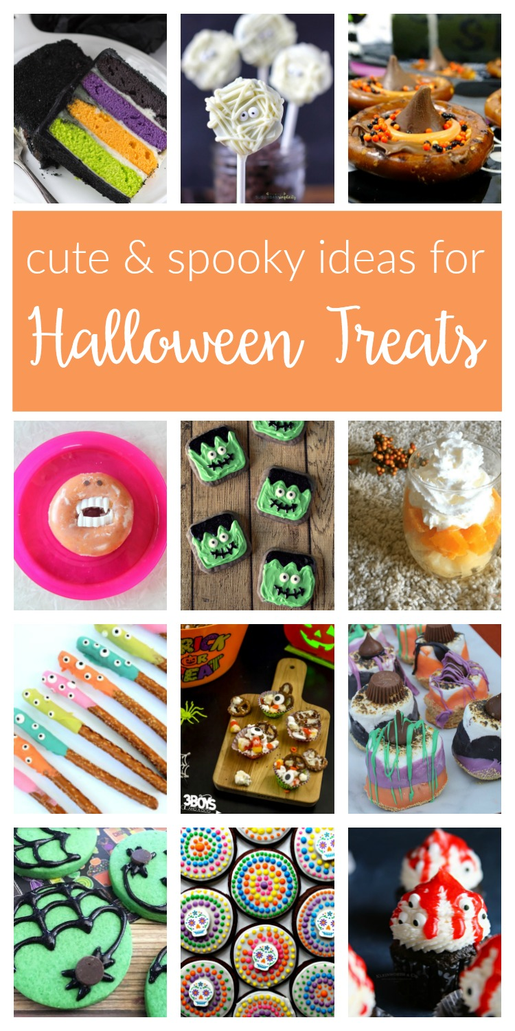 Halloween Treats ideas and recipes. From cute to spooky, these fun and easy DIY desserts and sweet treats are perfect for kids and adults alike!