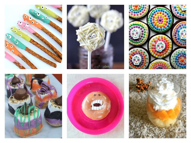 Cute and colorful ideas for Halloween treats - perfect for parties or school!