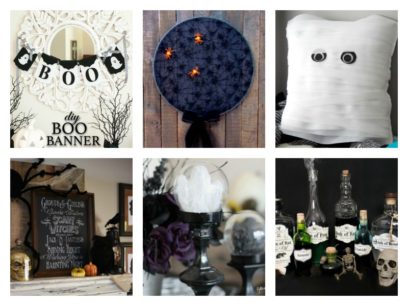 DIY Halloween Decorations - some are spooky but all are simple to make yourself!