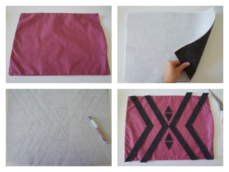 Geometric pillow step by step tutorial