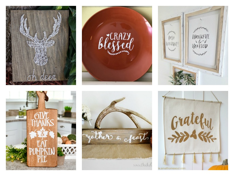 Love these rustic ideas for Fall signs & home decor!