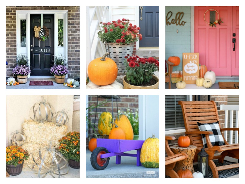 DIY Fall Porch Decorating Ideas - simple ways to add curb appeal for autumn