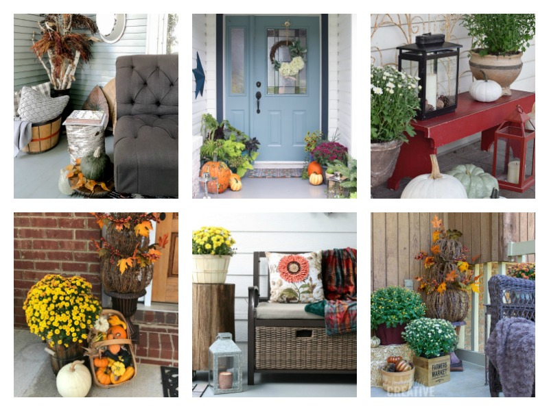 Fall porch & outdoor entry decorating ideas