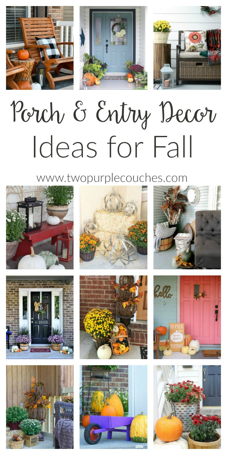 Fall Porch Decorating Ideas. Whether you love farmhouse or modern, these simple DIY and budget-friendly ideas for autumn are sure to boost your curb appeal!