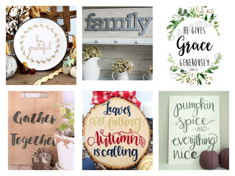 So many great ideas for Fall Signs and Thanksgiving decor!