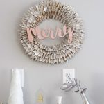 Transform a tired Holiday Wreath with this simple trick! Add fresh modern style to any Christmas wreath in minutes with this easy DIY idea.
