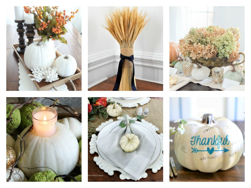 Beautiful DIY ideas for your #ThanksgivingTable - Cute centerpieces you can make yourself!