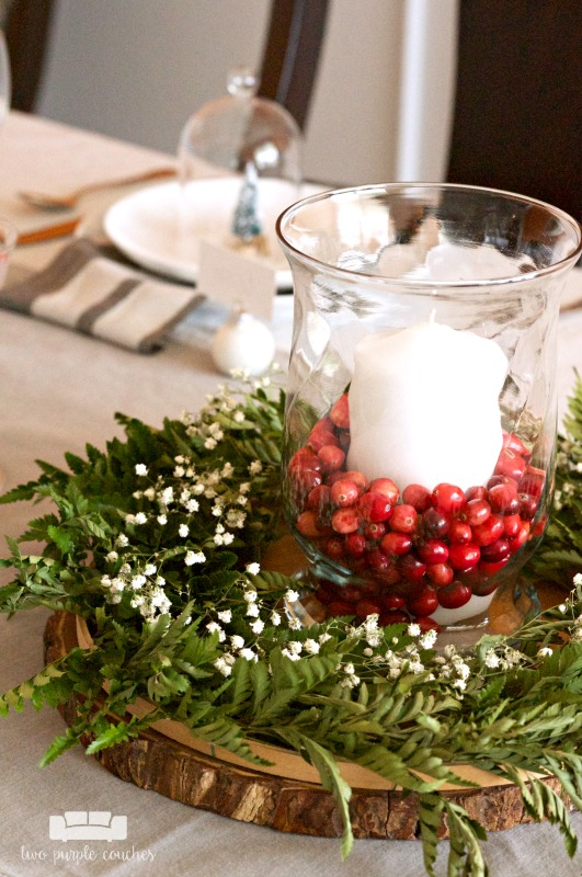 Easy Diy Christmas Centerpiece Two Purple Couches