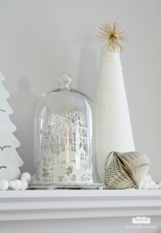 Pretty Christmas dome mantel decorations