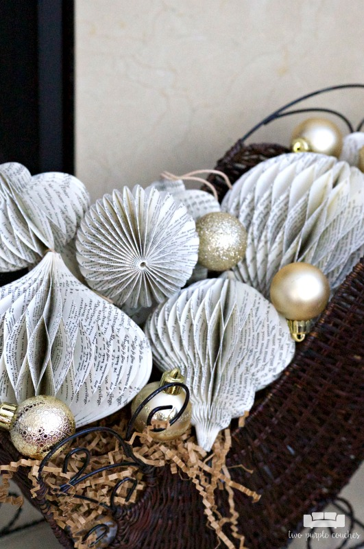These paper ornaments are perfect for holiday decorating with a touch of vintage charm.