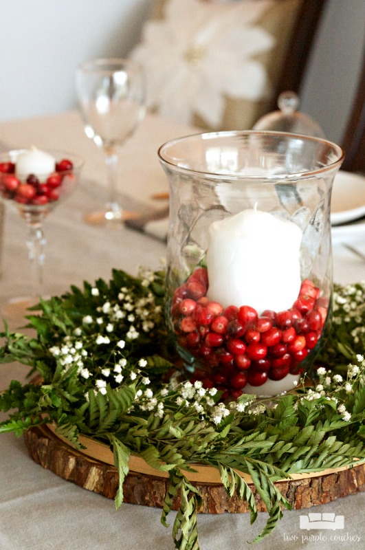 i am in love with this simple christmas table decor simple yet so elegant - Simple Christmas Table Decorations