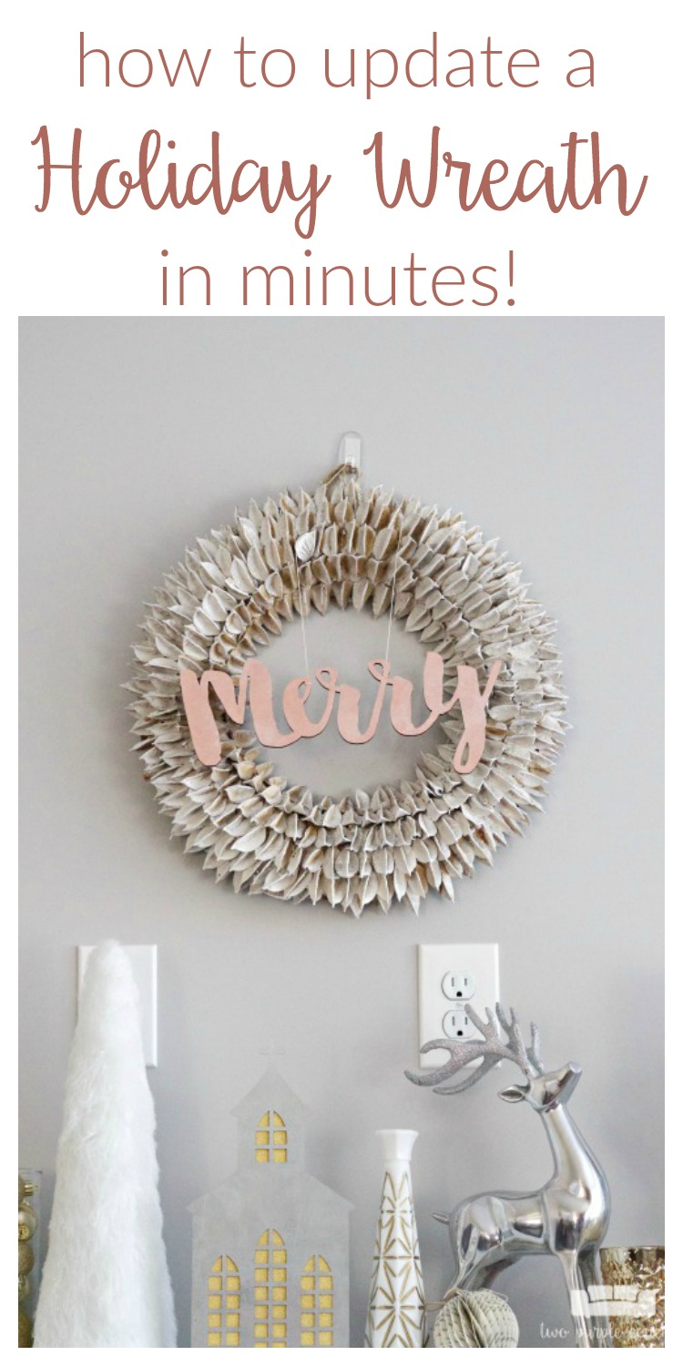 Is your holiday wreath looking a little tired? Transform it with this simple DIY idea!