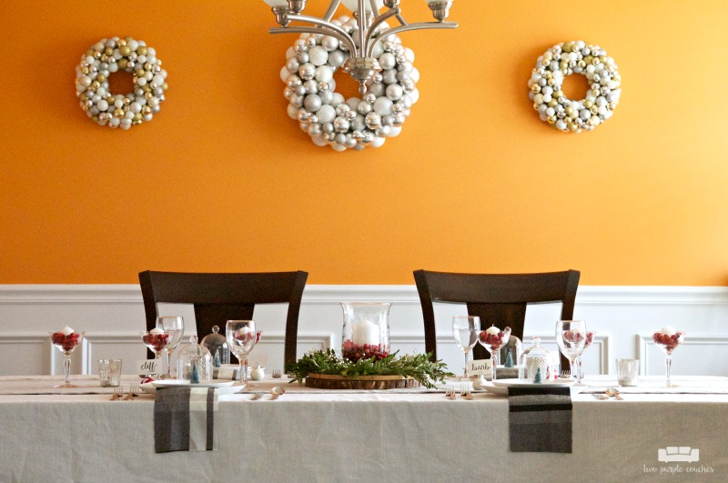 Simple ideas for Christmas table decor