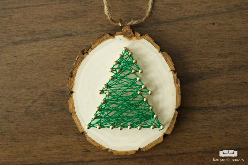 Rustic Christmas Tree String Art Ornaments