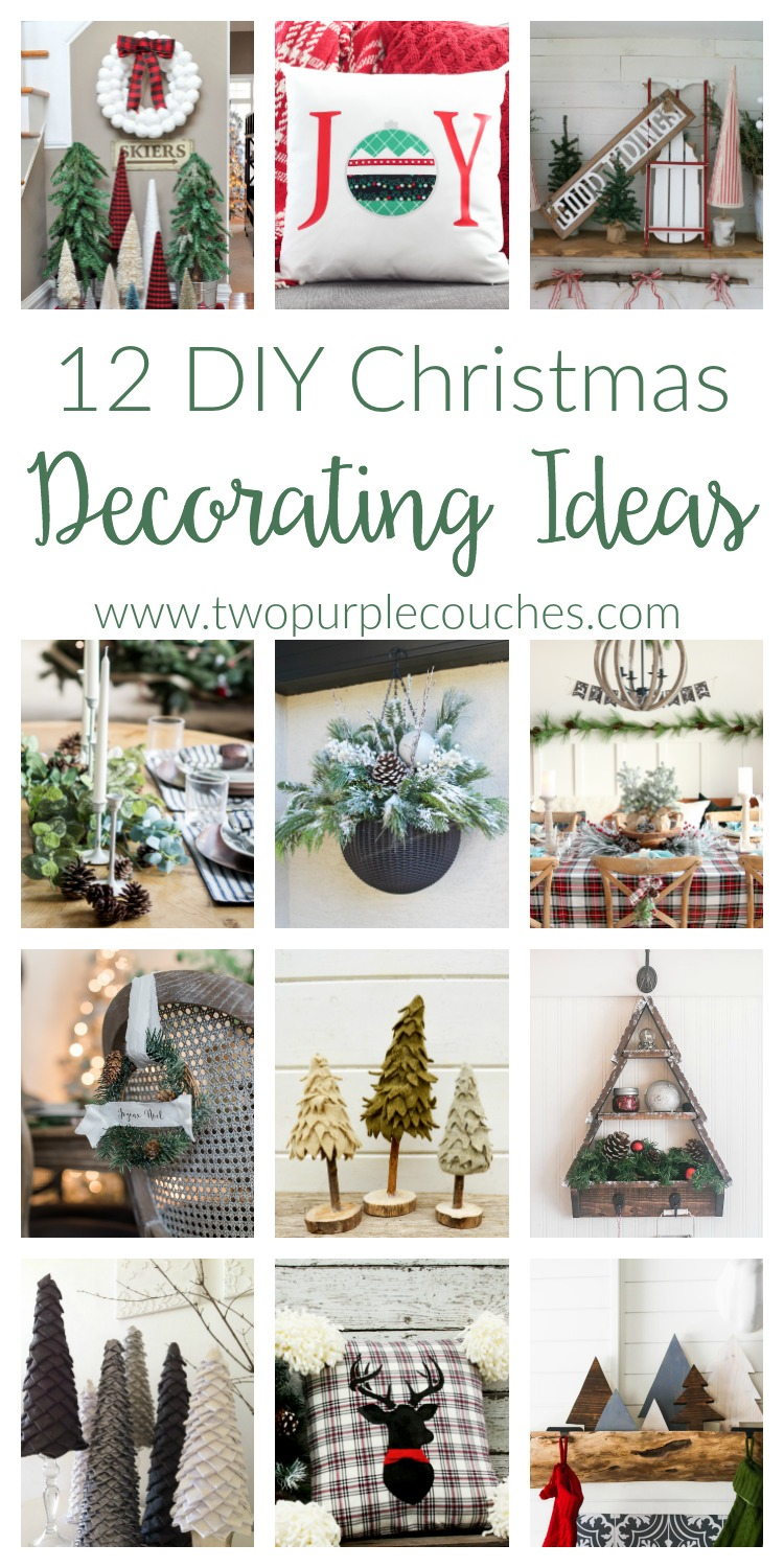 DIY Christmas Decorating Ideas - two purple couches