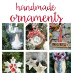 So many easy ideas for handmade Christmas ornaments! DIY your own to keep as decorations or gift using fabric, wood, vinyl, glitter, paint and more!