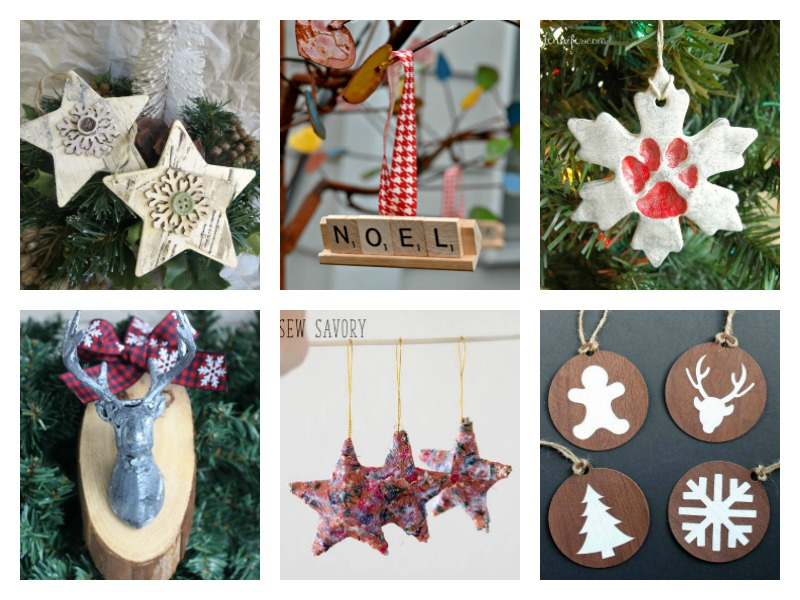 So many neat DIY ideas for Christmas ornaments!