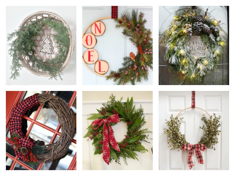DIY Christmas Wreaths - easy and elegant evergreen wreath ideas