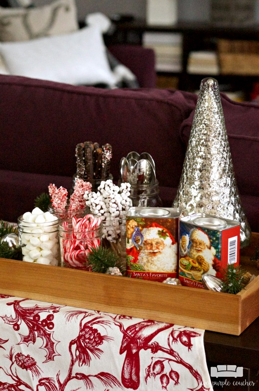 Cute and cozy hot chocolate bar idea for the holidays