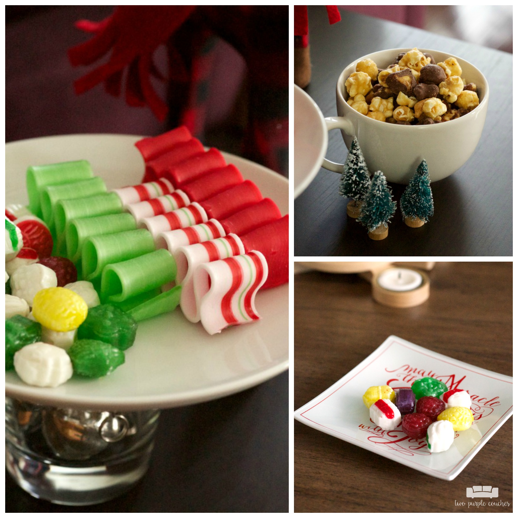 Classic candies and sweets for a cozy holiday home