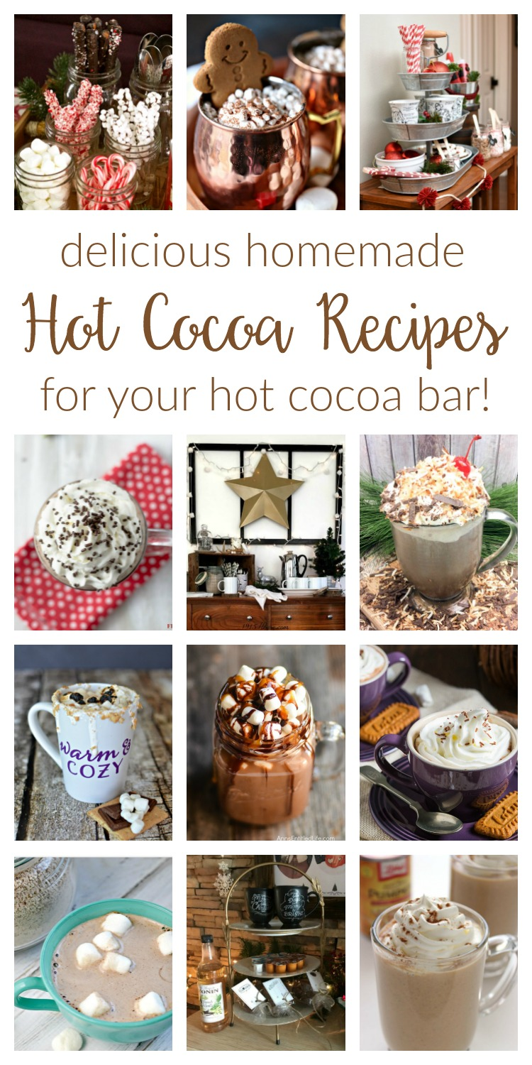 Hot Cocoa Recipes / Cozy up with one of these easy, delicious homemade recipes! They're perfect for adding to your hot cocoa bar!
