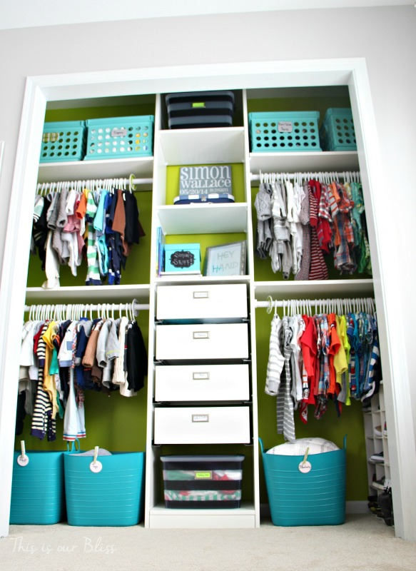 Baby Boy Nursery Closet / This Is Our Bliss