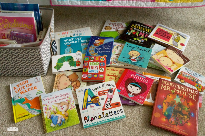 "Hosting a ""build a library"" baby shower is such a sweet way to start baby's book collection."