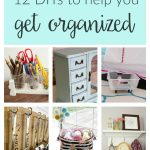 Home organization crafts and projects. These clever budget DIY ideas will help you stay organized from the bedroom, to the kitchen to the office and beyond!
