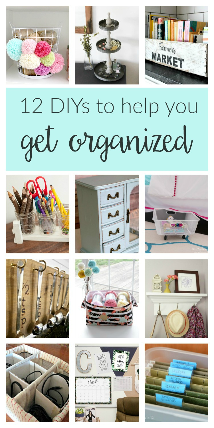 Home Organization Crafts And Projects These Clever Budget DIY Ideas Will Help You Stay Organized From The Bedroom To Kitchen Office Beyond
