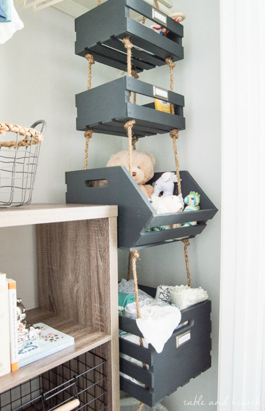 Hanging Closet Storage Crates / Table and Hearth