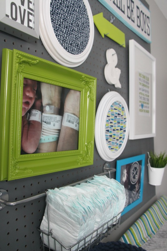 Boy Nursery Pegboard / This Is Our Bliss