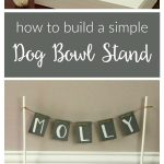 Build your own dog bowl stand. Follow this easy DIY to create a raised wooden stand to hold your dog's food and water bowls. Perfectly sized for a small dog!