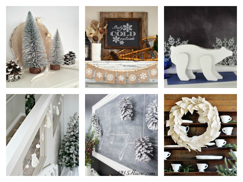 Simple ideas for wintry home decor after the holidays - love the pinecones!