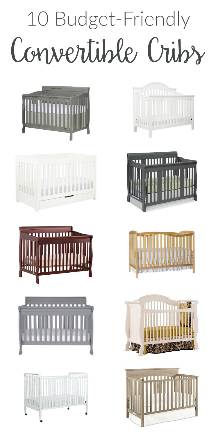 Convertible cribs are smart investments for nursery furniture. Many options are budget-friendly, affordable, and suit any style from rustic to modern!