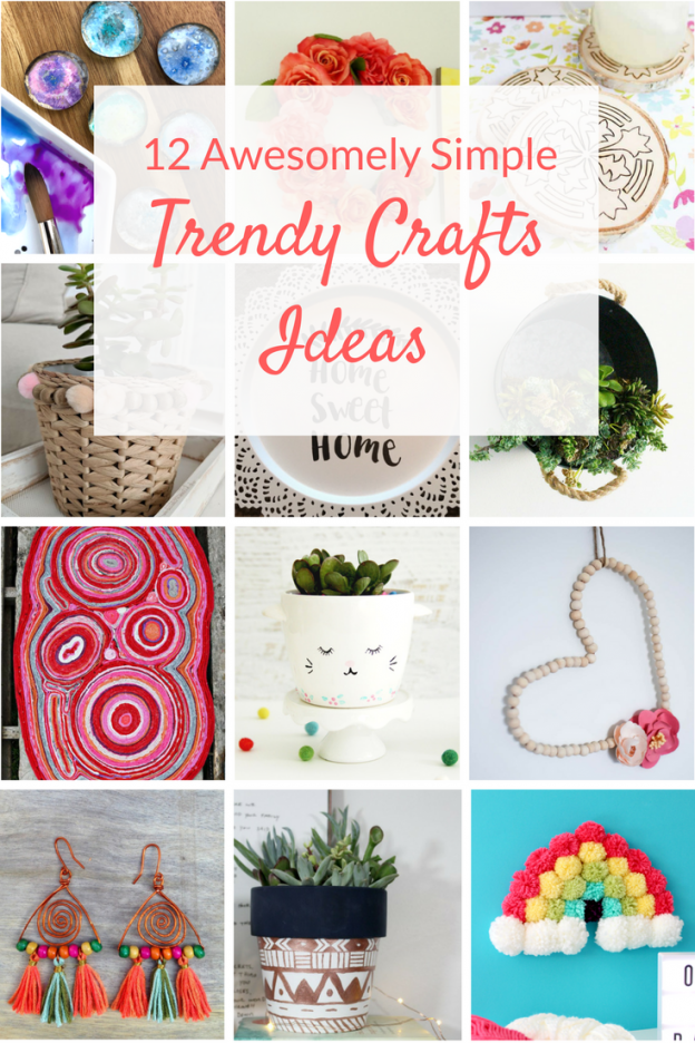 Trendy crafts and awesome DIY ideas for home decor. Learn how to make some of the most unique and popular crafts with these simple projects.