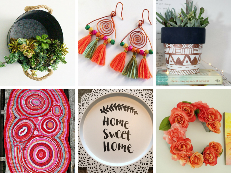 Trendy crafts and DIY home decor ideas