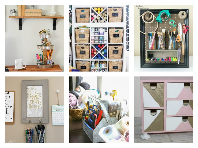Storage and organizational ideas for your craft room