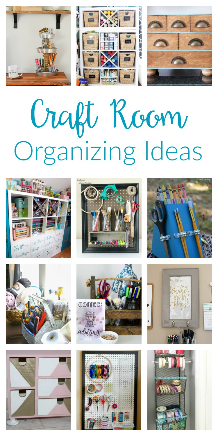 craft room organization ideas two purple couches