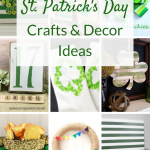 St. Patrick's Day crafts and decorations ideas. Creative DIY decor ideas for pots of gold, four leaf clovers, vintage-inspired signs and wreaths.