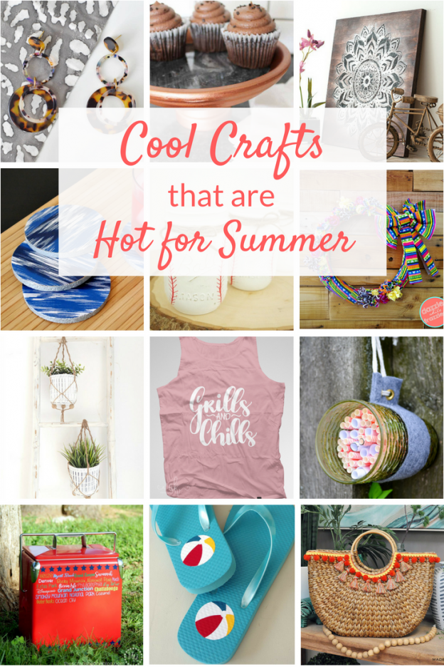 Summer crafts ideas to keep you cool when it's hot outside! These cute and easy DIY and crafts ideas offer creative fun for both kids and adults alike.