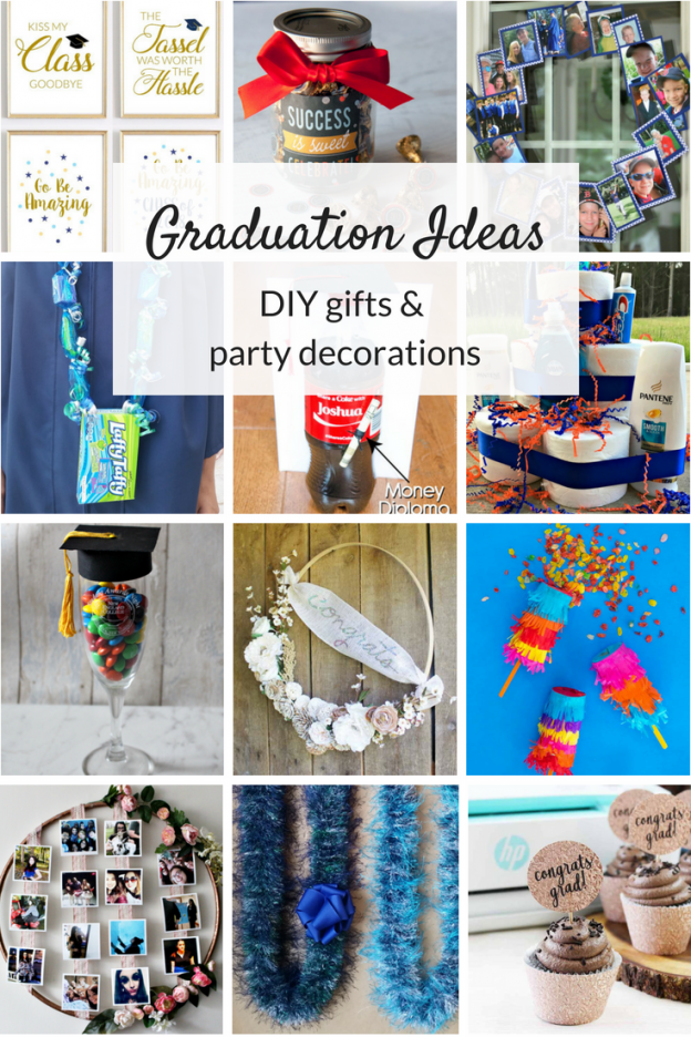 Graduation ideas for high school and college students. DIY party ideas, decorations, gifts and more to celebrate and commemorate the big day.