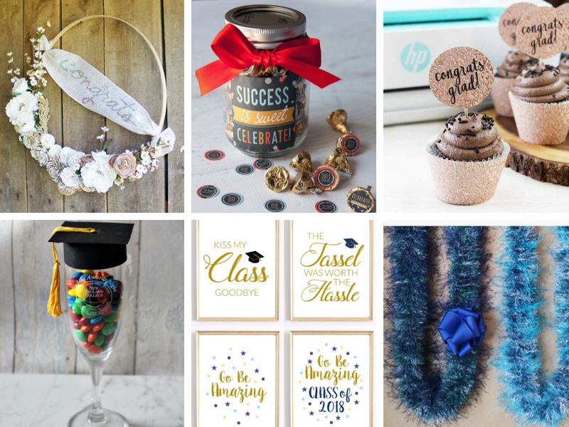 DIY gifts and party decorations for high school or college graduation