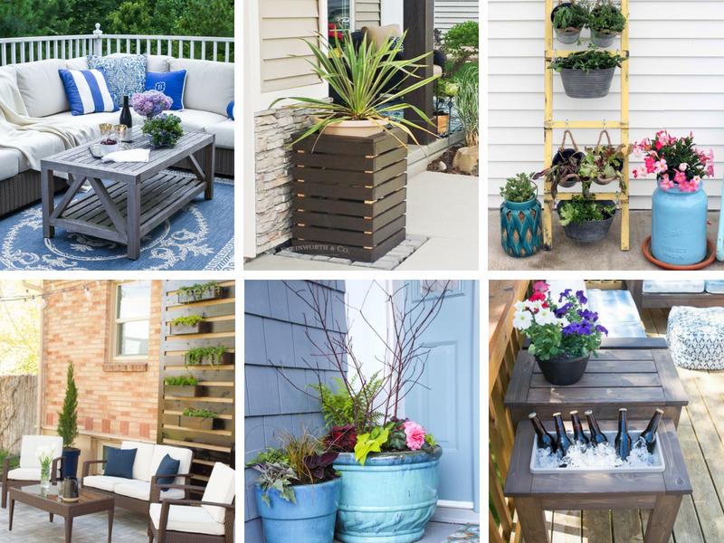 patio ideas for summer - inexpensive decorating ideas