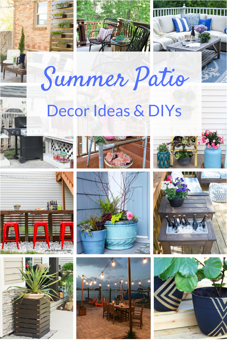 Enjoy your outdoor space all summer long with these inexpensive DIY patio ideas. From planting to decorating, you can have a beautiful patio on a budget!