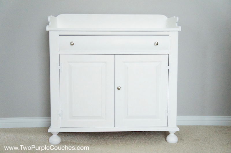 Painted furniture makeover - DIY changing table for a nursery