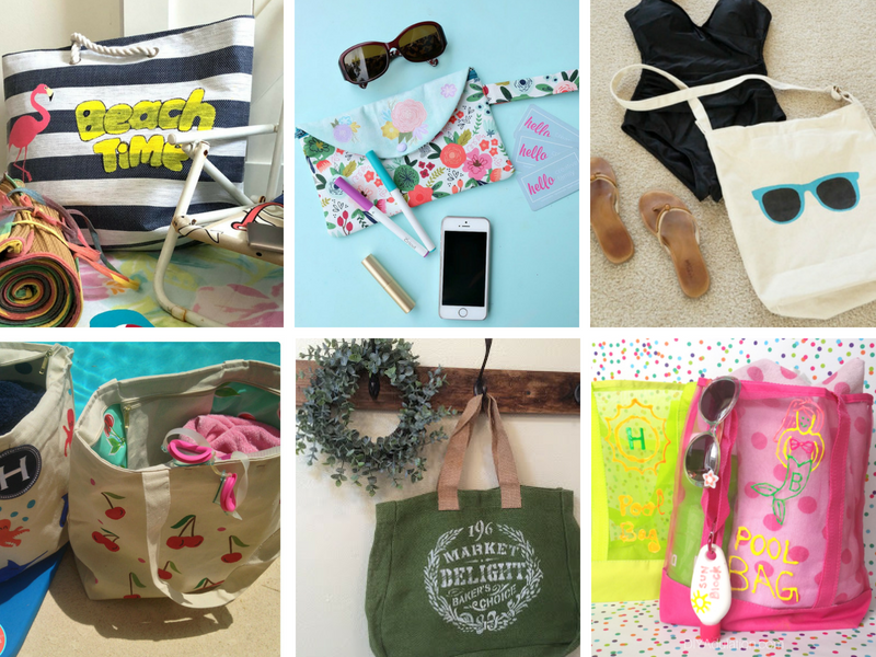 DIY Tote Bag Ideas for beach, pool or travel!