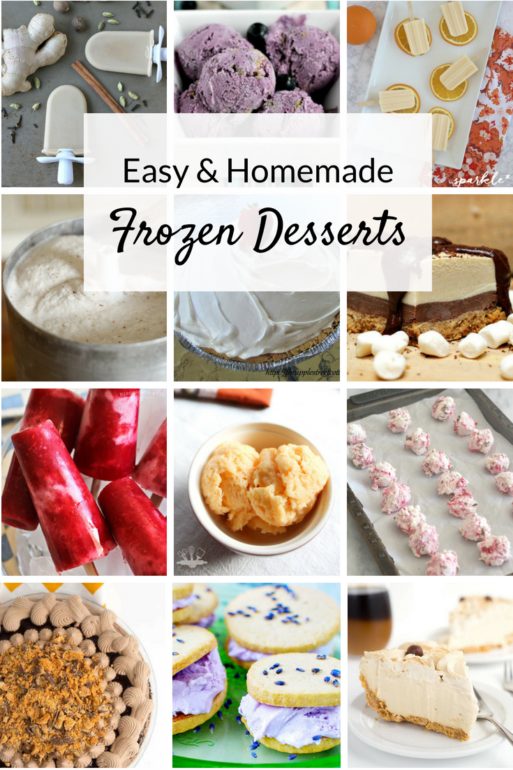 Cool off this summer with these easy, homemade frozen desserts! Delicious ideas and recipes from ice cream to pie to frozen fruit treats.